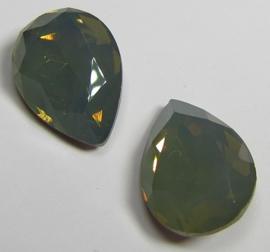 Glass Drop 13 x 18 mm Taupe Opal (per 1)