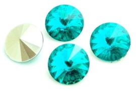 Resin Rivoli 10 mm Blue Zircon (per 4)