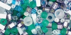 TX-01-3229 Fuji- White/Green/Blue/Purple Mix (per 10 gram)