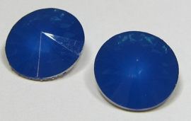 Resin Rivoli 14 mm Capri Blue Opal (per 2)