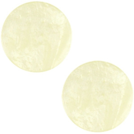 Polaris Cabochon Coin Flat 12 mm Mosso Shiny Sea Mist Green (per 1)