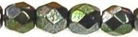 Facet 3 mm Light Metalic Green (per 75)