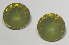 Resin Rivoli 16 mm Light Topaz Opal (per 2)