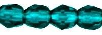 Fire Polished 3 mm Dark Emerald (per 75)