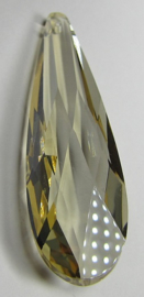 Glass Drop 75 x 21 mm Light Topaz (per 1)