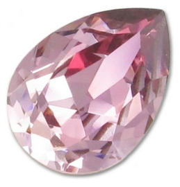 Swarovski Druppel 4320 14 x 10 mm Crystal Antique Pink (per stuk)