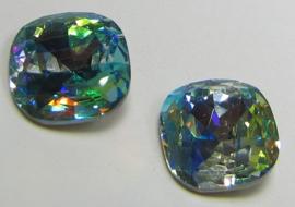 Glass Square 12 mm Rainbow Aqua (per 1)