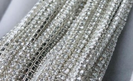 Cup Chain SS4 1,5 mm Silver - Crystal (50 cm)