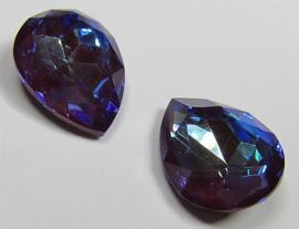 Glass Drop 13 x 18 mm Crystal Bordeaux DeLite (per 1)