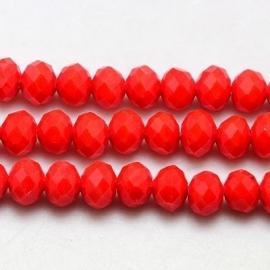 Faceted Rondelles 2 x 3 mm Milky Orange F466 (per 138 beads)