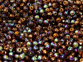 Druk Beads 6 mm Crystal Glittery Bronze (per 20)