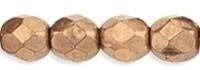 Fire Polished 3 mm Gold Bronze (per 50)