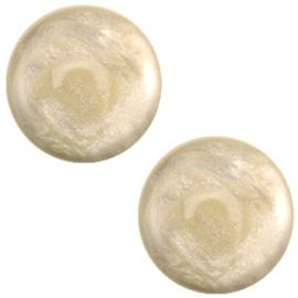 Polaris Cabochon Coin 20 mm Jais Almondine Brown (per 1)