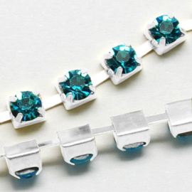 Cup Chain SS12 3 mm Aquamarine (per meter)