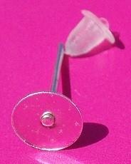 Earring Stud 6 mm H122 (4 pair)
