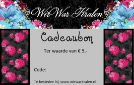 Gift Voucher €5,- (PDF or Printed)