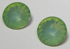 Resin Rivoli 10 mm Chrysolite Green Opal (per 4)