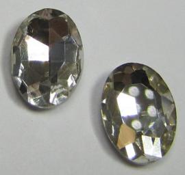 Glass Oval 10 x 14 mm Crystal (per 2)