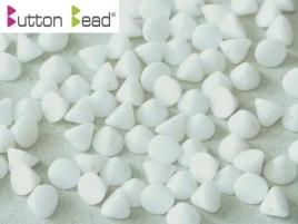Button Bead Chalk White (per 28)