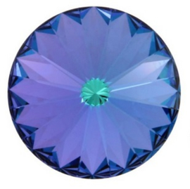 Swarovski Rivoli 12 mm Aquamarine Vitrail Light (per 1)