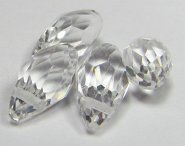 Faceted Drops 12 x 6 mm Crystal (per 4 beads)