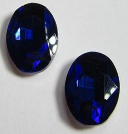 Glass Oval 10 x 14 mm Dark Sapphire (per 2)
