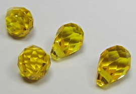 Faceted Drops 8 x 5 mm Sunflower Yellow (per 4 beads)