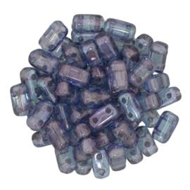 CzechMates Bricks Luster - Transparent Amethyst (per 30)