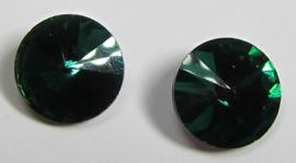 Glas Rivoli 10 mm Dark Emerald (per 3)