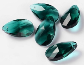 Glas Druppel Hanger 16 mm Emerald (per stuk)