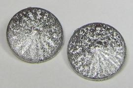 Resin Rivoli 14 mm Stardust Silver (per 2)