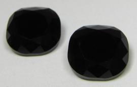 Glass Square 12 mm Black (per 1)