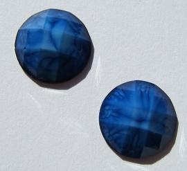 Cabochon Resin Facet Blauw 12 mm G423 (per 2)