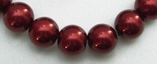 Glass Pearls Burgundy 6 mm *86 (80 cm strand)