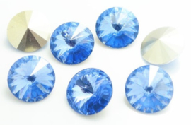 Resin Rivoli 16 mm Light Sapphire (per 2)