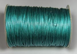 Waxed Cord 1,5 mm Dark Turquoise W124 (1 meter)