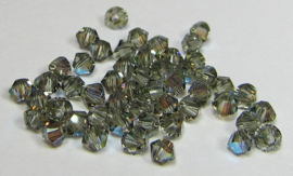 Swarovski Bicone 3 mm Black Diamond Shimmer (per 50)