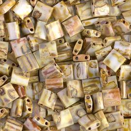 TL-4512 Op Yellow Picasso Miyuki Tila Bead (per 5 gram)