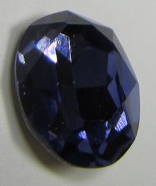 Glas Ovaal 13 x 18 mm Tanzanite (per stuk)