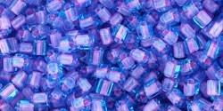 TG-11-937 Inside-Color Aqua/Bubble Gum Pink Lined (per 10 gram)
