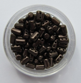 Rulla Beads Jet Copper (per 10 gram)