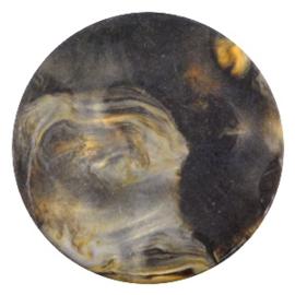 Polaris Cabochon Coin Flat 35 mm Perseo Matt Black Gold (per 1)