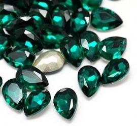 Glass Drop 20 x 30 mm Emerald (per 1)