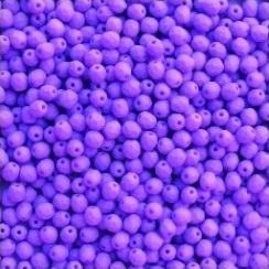 Fire Polished 3 mm Opaque Violet Silk Mat (per 50)