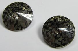 Glass Rivoli 14 mm Crystal Nickel Patina (per 1)