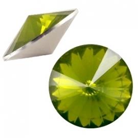 Resin Rivoli 12 mm Olivine Green Opal (per 3)