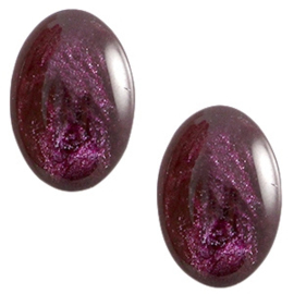 Polaris Cabochon Oval 13 x 18 mm Jais Crown Jewel Purple (per 1)