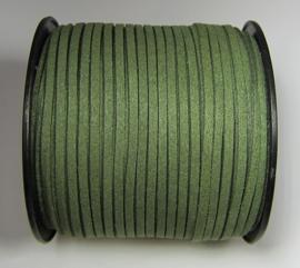 Suede Imitation 3 mm Army Green SU037 (1 meter)