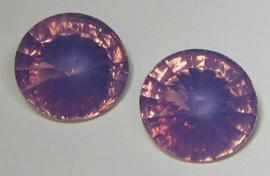 Resin Rivoli 18 mm Lilac Opal (per 2)