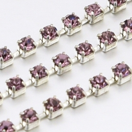 Cup Chain SS8 2,5 mm Light Amethyst (meter)